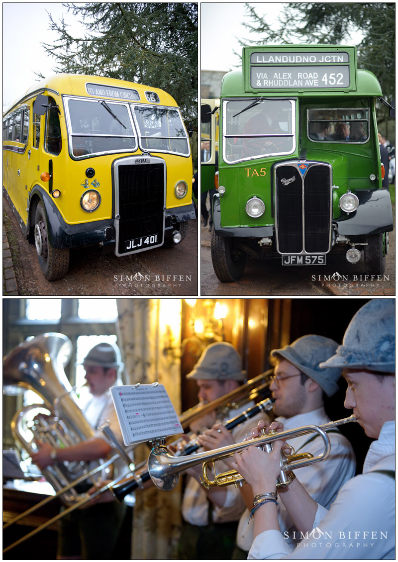 Bavarian Oompah Boys and vintage buses