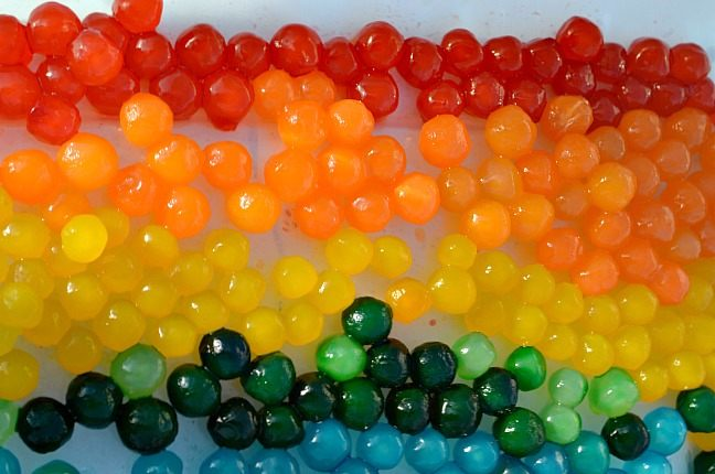 How to make colored edible water beads for sensory play