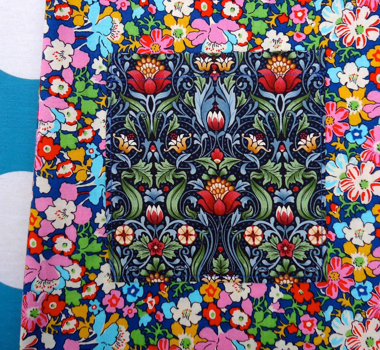 Kensington Floral patch pocket