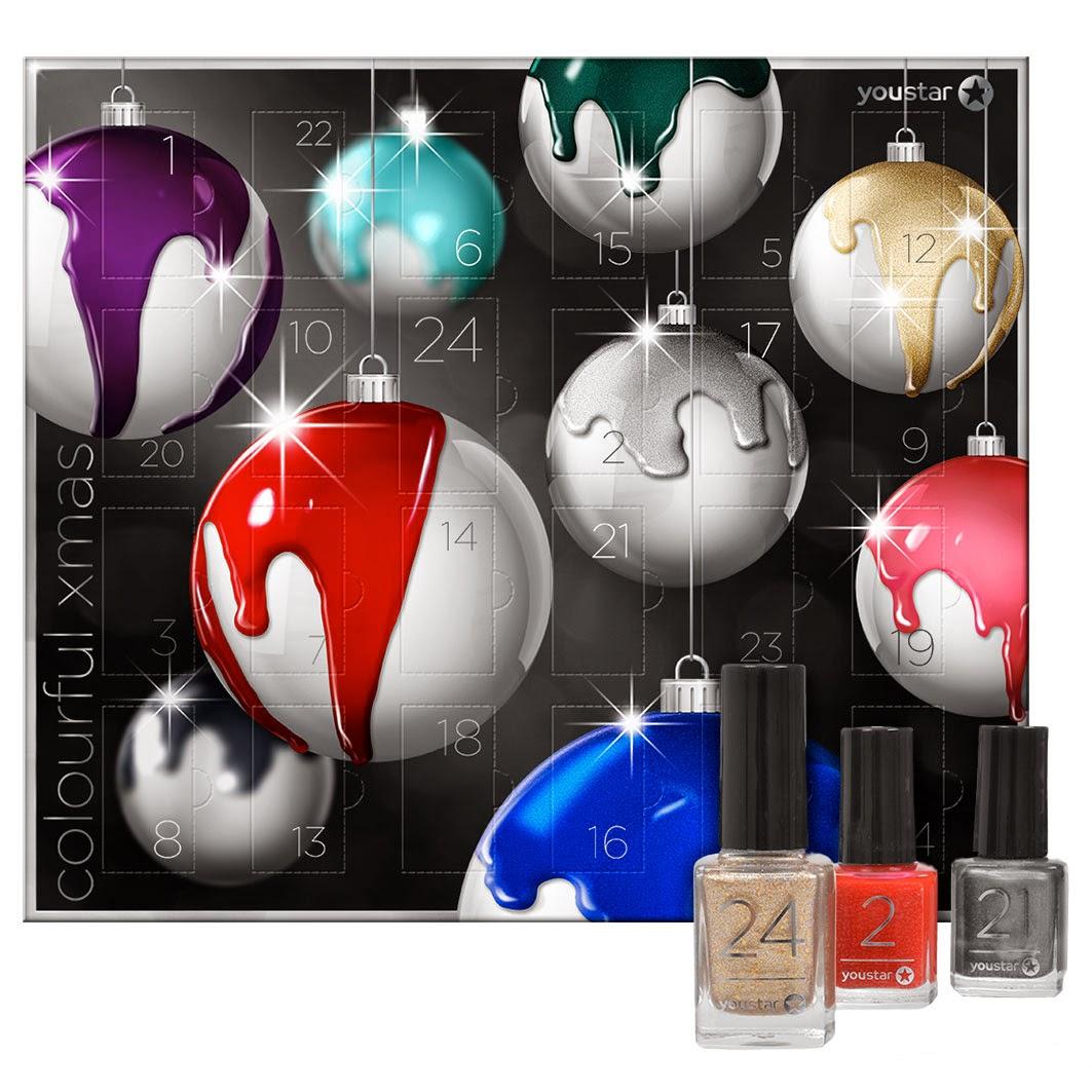 produkt testwelt youstar adventskalender 24 x nagellack. Black Bedroom Furniture Sets. Home Design Ideas
