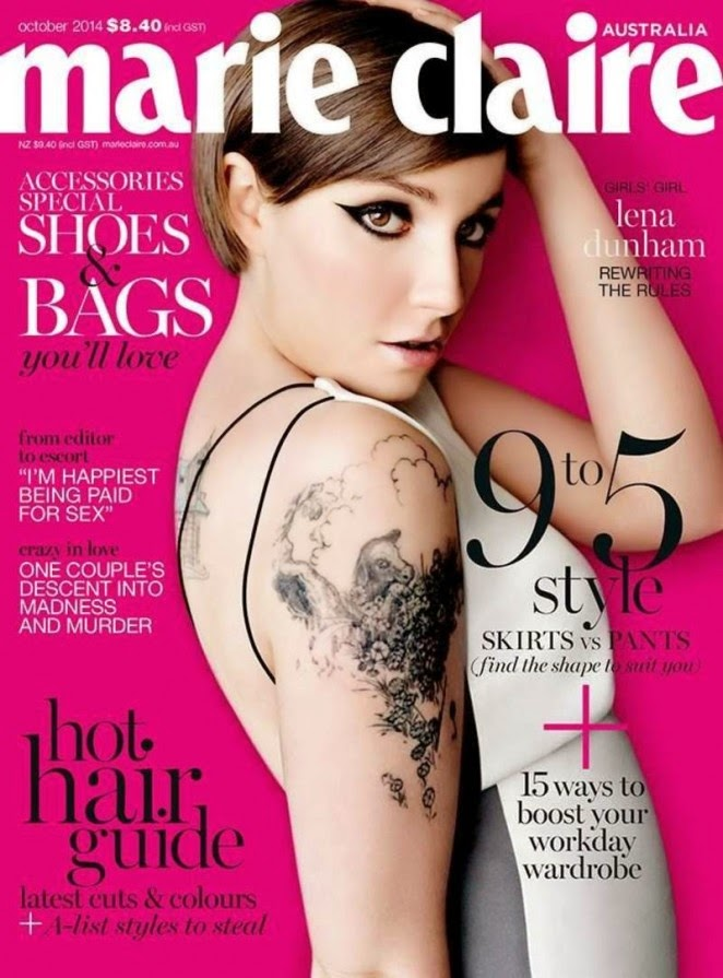 Lena Dunham covers Marie Claire Australia October 2014