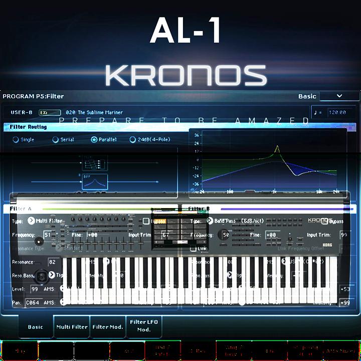 Korg KRONOS - Analog modeling synthesizer AL-1 - 40 примеров звучания | Андрей Климковский