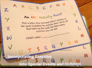 ABC birthday party - ideas for activity in special events and holidays
