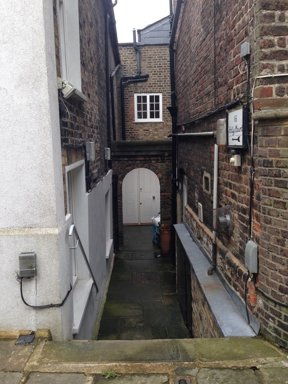 Narrow passageway, Hampstead, London NW3