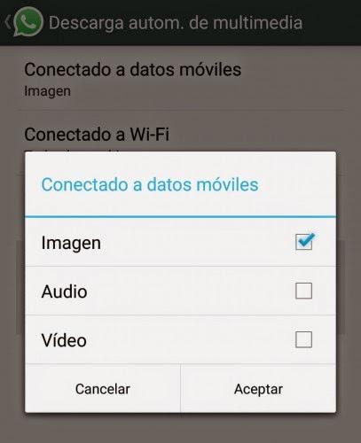 Trucos para WhatsApp - Evita descargar fotos y vídeos