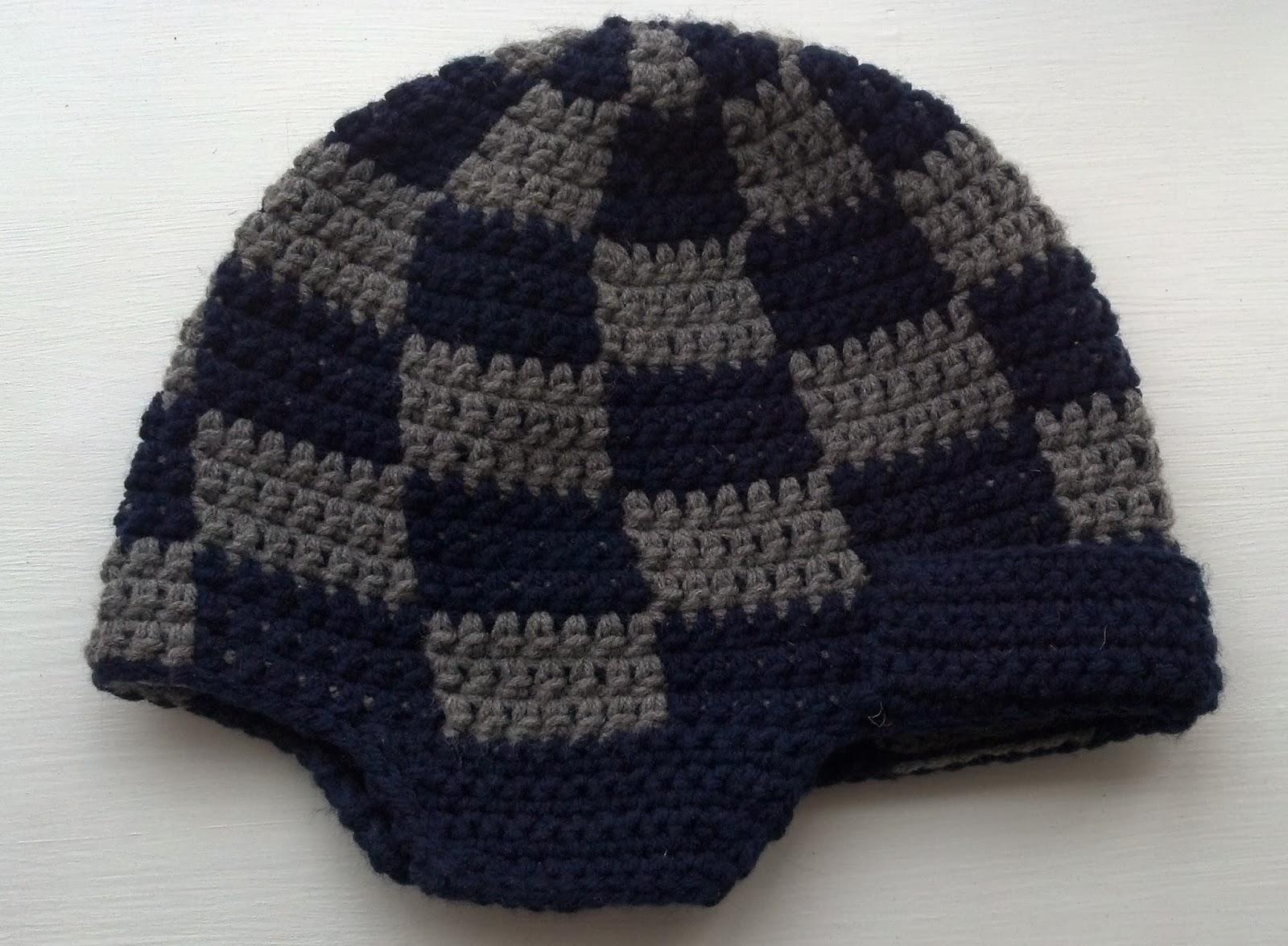 Checkered Knitting Pattern : Pattern: Checkered Hunting Hat Knit A Bit Crochet Away