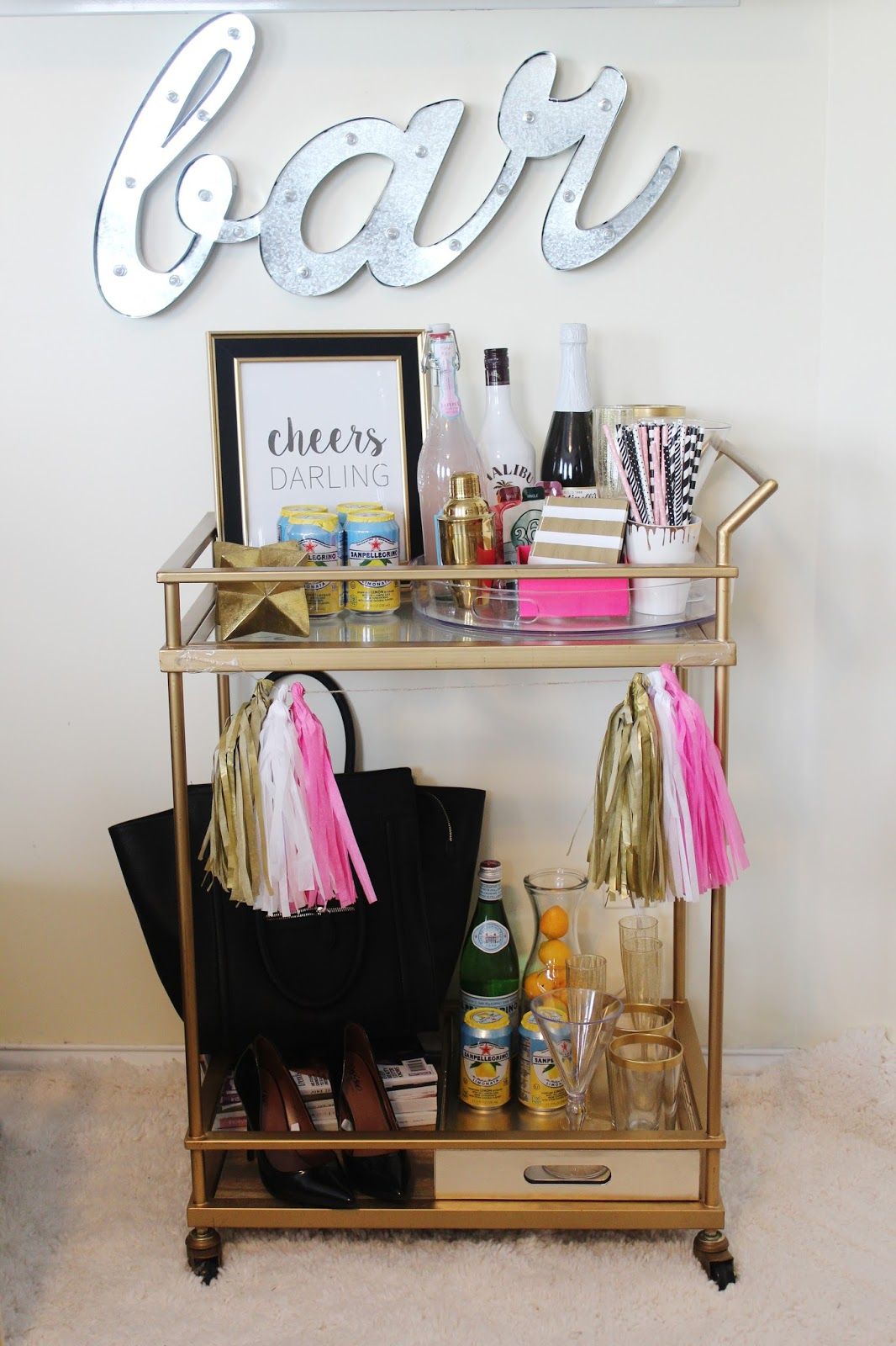 they have great bar cart essentials and decor items to get your bar cart ready - How To Style A Bar Cart