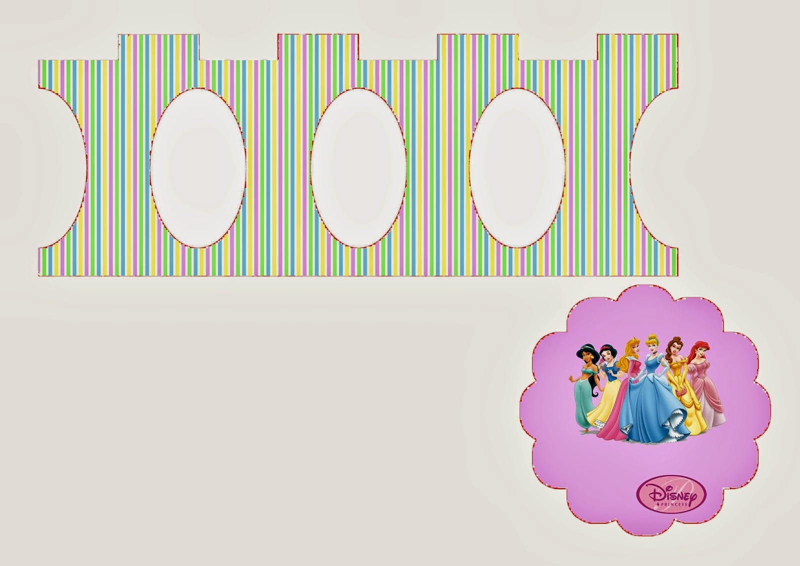 Princesas Disney: Stand para Cupcakes para Imprimir Gratis.   Ideas ...
