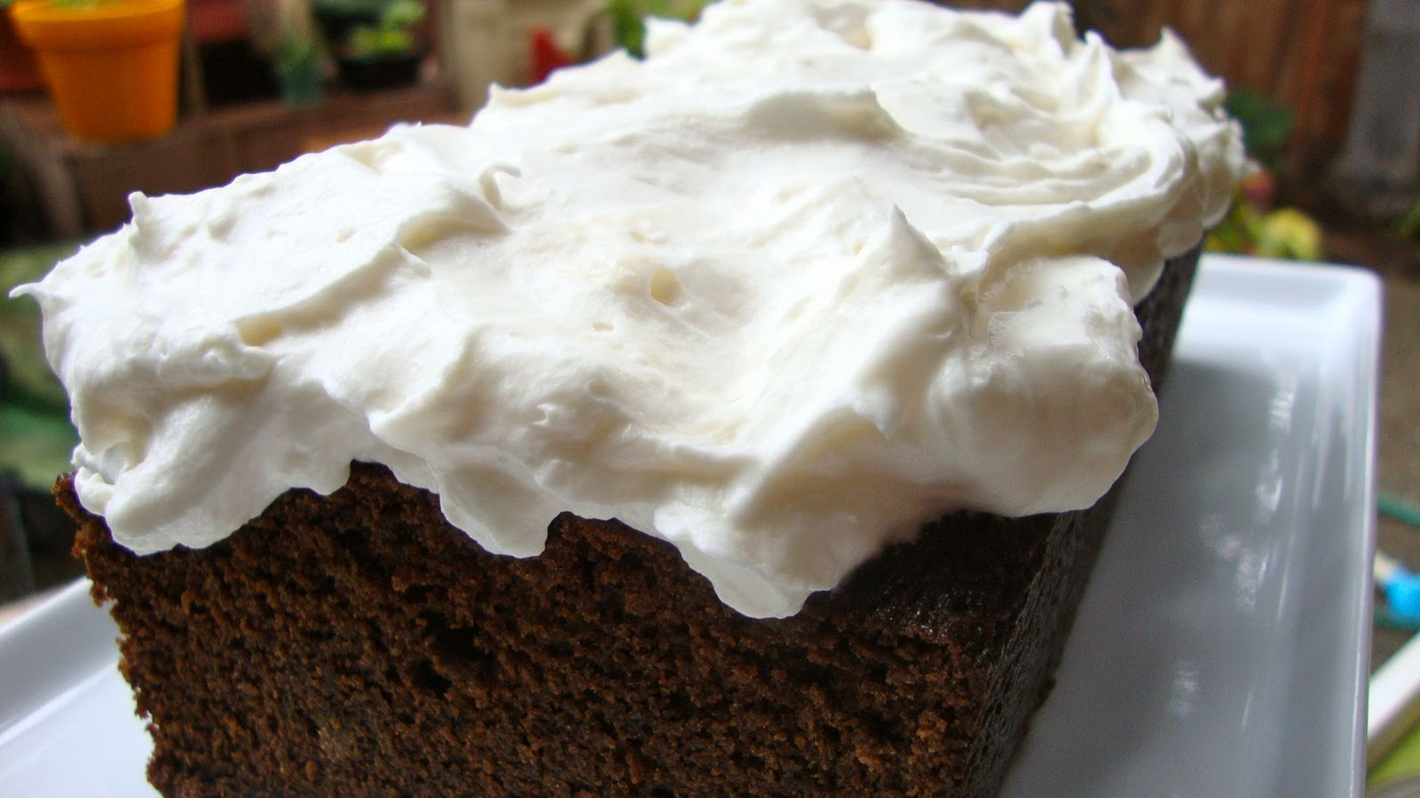 Indulge: Gingerbread with Whipped Cream Cheese Frosting