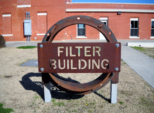 The historic filter building at White Rock Lake, Dallas