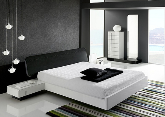 and white bedrooms with color accents black and white bedroom color