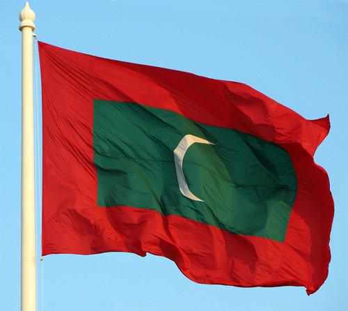 Algeria And Maldives Flag
