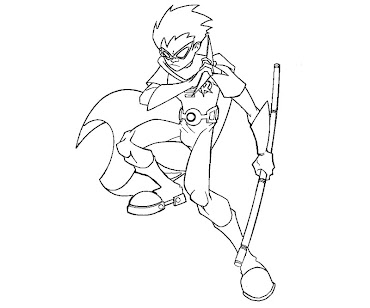 #7 Robin Coloring Page