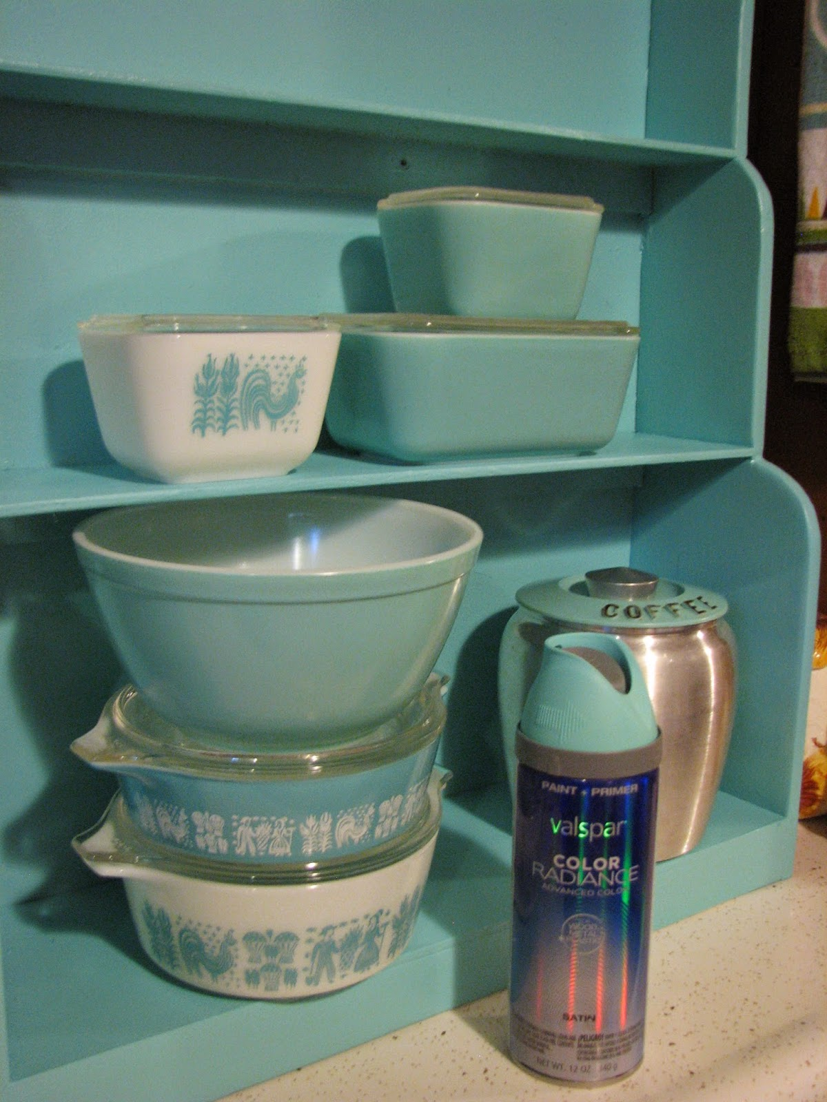 They Call This America Turquoise Pyrex Paint Match