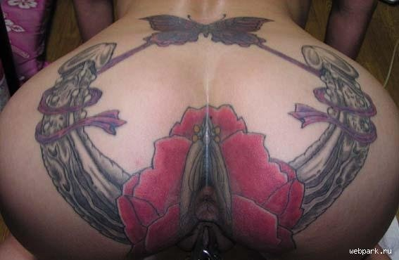 Image of tattoo around female anus