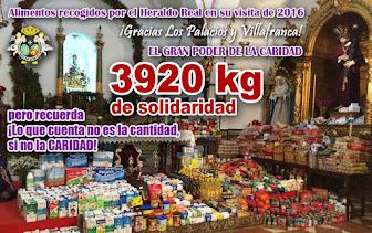 Alimentos recogidos por el Heraldo Real en 2016