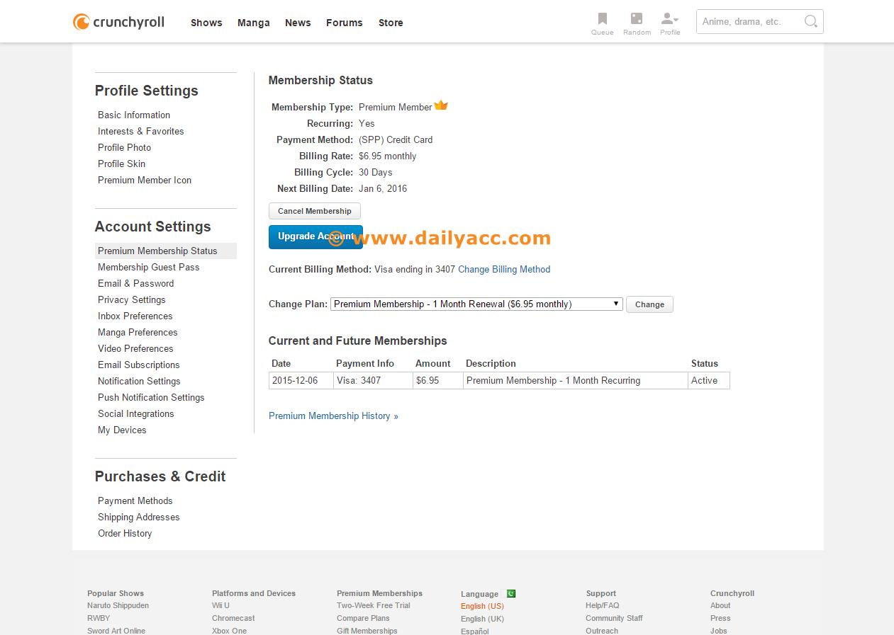 Depfile premium account 2014 - Crunchyroll Com Premium Account 23 December 2015 Until Jan 6 2016