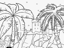 Sontreasure Island Coloring Pages