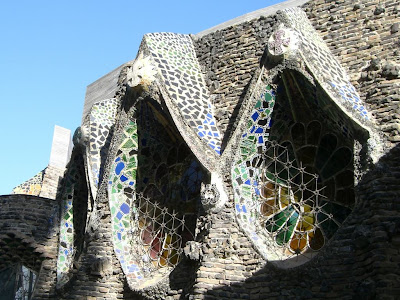 Crypt of La Colonia Güell designed by Antoni Gaudí