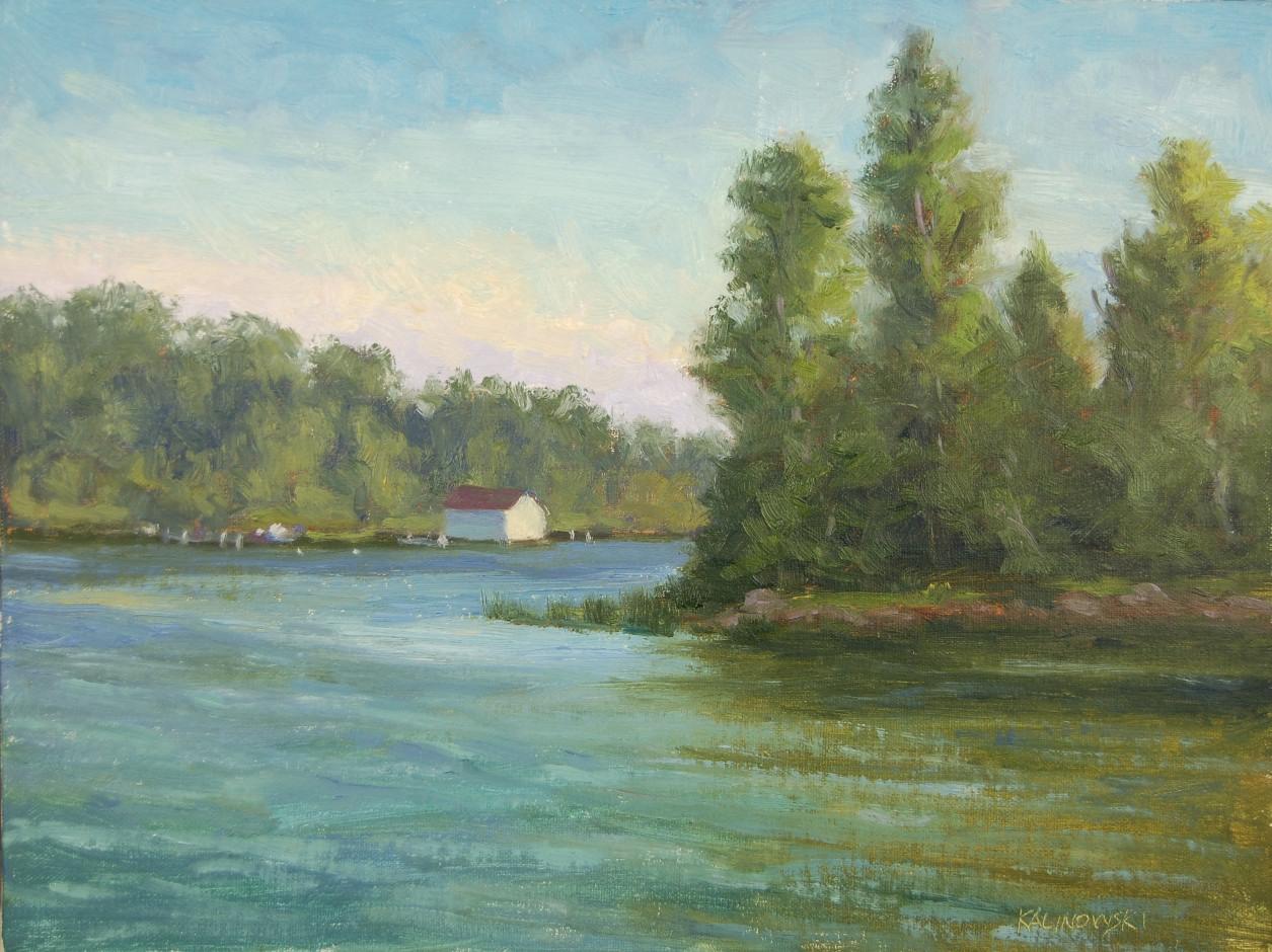 Kathleen kalinowski artist leelanau plein air for Lake leelanau fishing