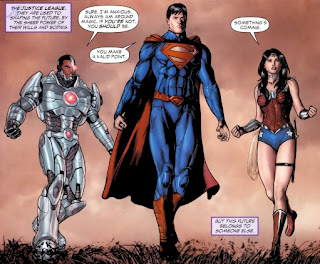 Cyborg, Superman and Wonder Woman from Justice League Dark #1