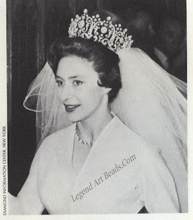This same necklace was to be worn over a century later by Princess Margaret when she married Anthony Armstrong-Jones.