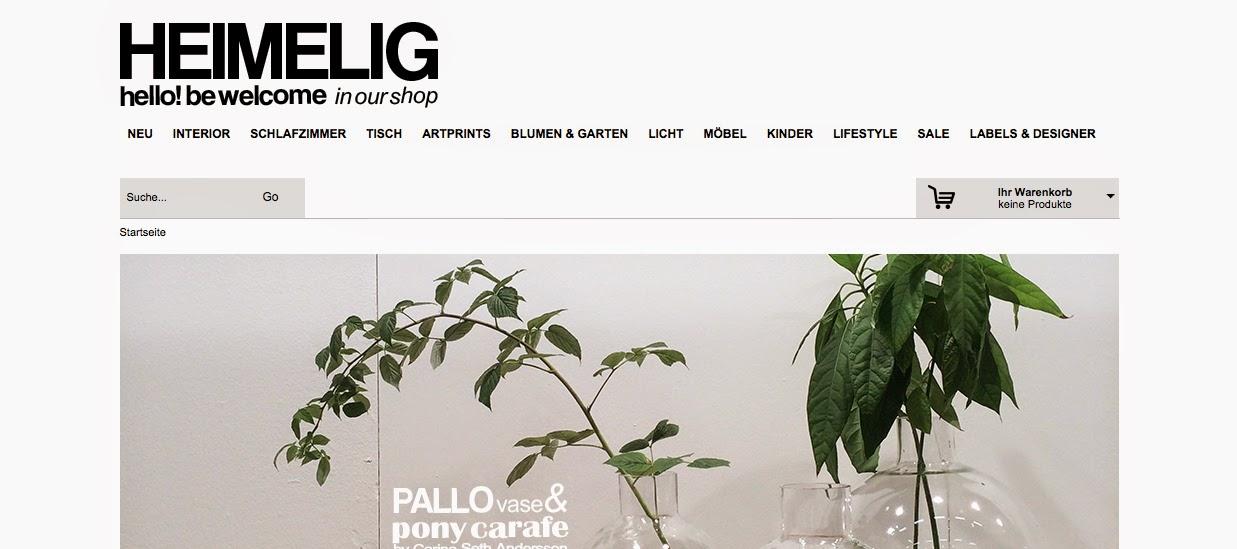 my 5 favourite interior webshops, Heimlig, La Maison d'Anna G, J. Levau Shop, Stilleben, Artilleriet via http://www.scandinavianlovesong.com/