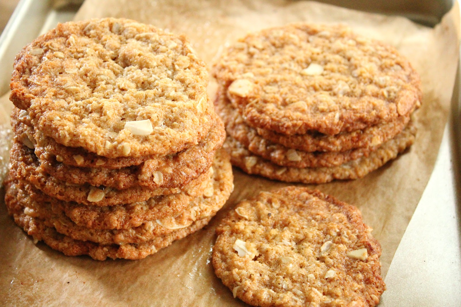 Oatmeal, coconut and almond cookies - Home cooking recipes