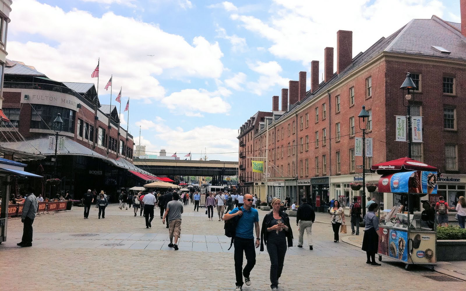 Entrance To The South Street Seaport