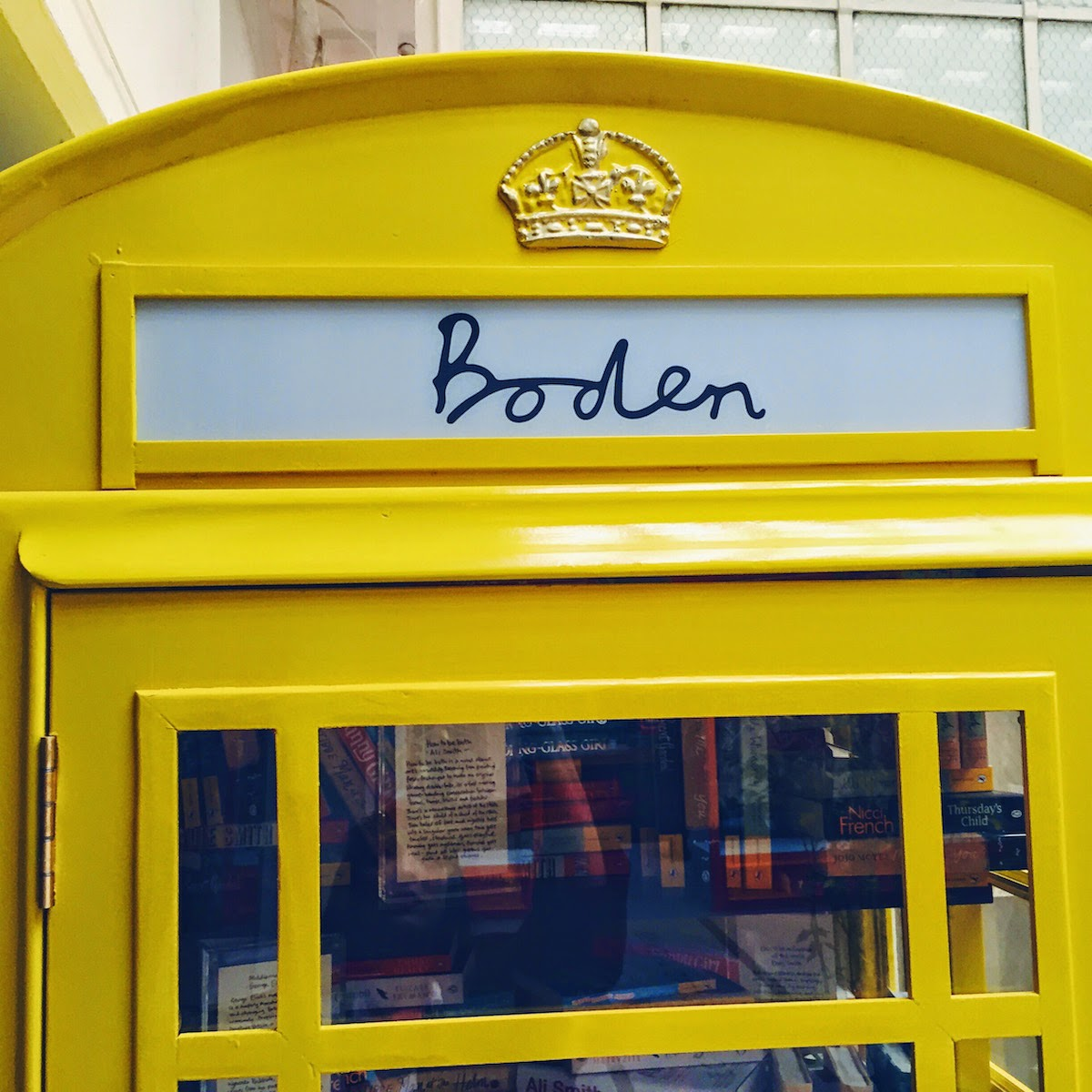 boden aw15 press day phone box yellow new british