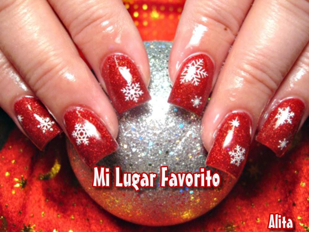 Navidad navidad u as decoradas de navidad en tono rojo - Decoracion de unas para navidad ...
