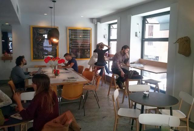 Sala abierta_cafetería Federal Madrid