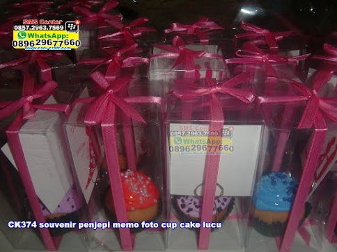 souvenir penjepi memo foto cup cake lucu jual