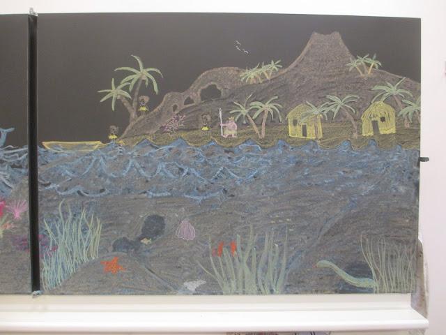 zeichnen für den Kindergarten Piraten, Insel, Pippi Langstrumpf, Südsee