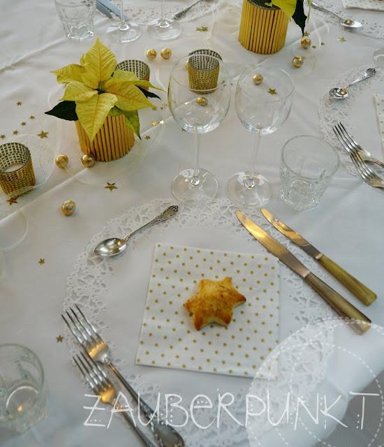 DIY, Tutorial, Starsforeurope,Weihnachtsstern, gold, Tischdekoration, Weihnachten