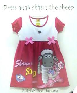 dress anak shaun the sheep