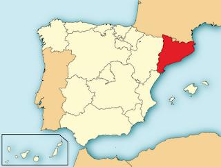 mapa localización de cataluña en España