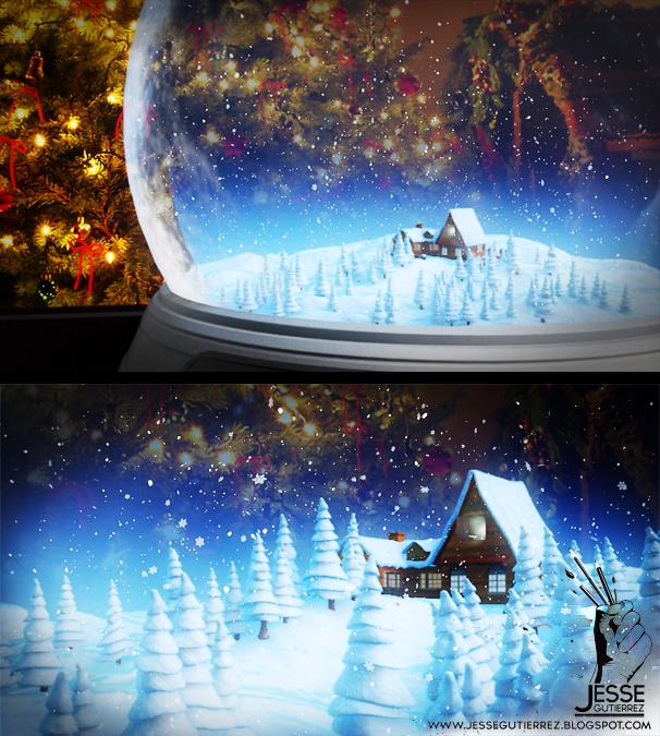 bola de nieve 3d Jesse gutierrez art peru,artista peruano 3d diseño 3d