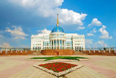 Palacio del Presidente en Ak-Orda, Astana, Kazakhstan.