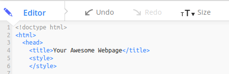 style tags in head of HTML document on Mozilla Thimble