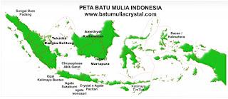 peta persebaran batumulia Indonesia