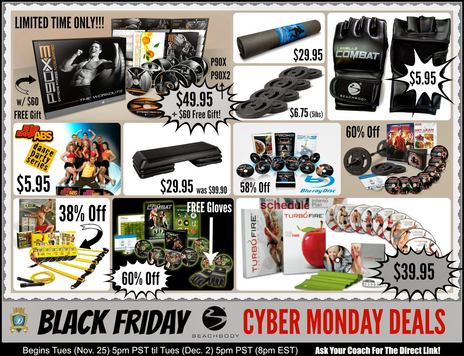 Black Friday and Cyber Monday Deals Beachbody 2014