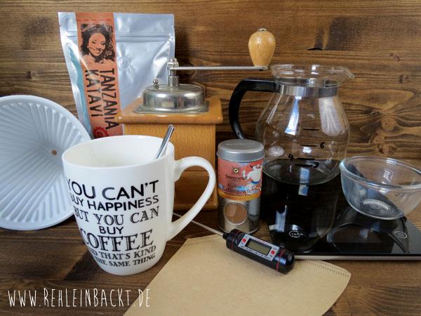 Kleines Barista-Tutorial für zu Hause: Perfekten Kaffee von Hand aufbrühen - So geht's! | Foodblog rehlein backt