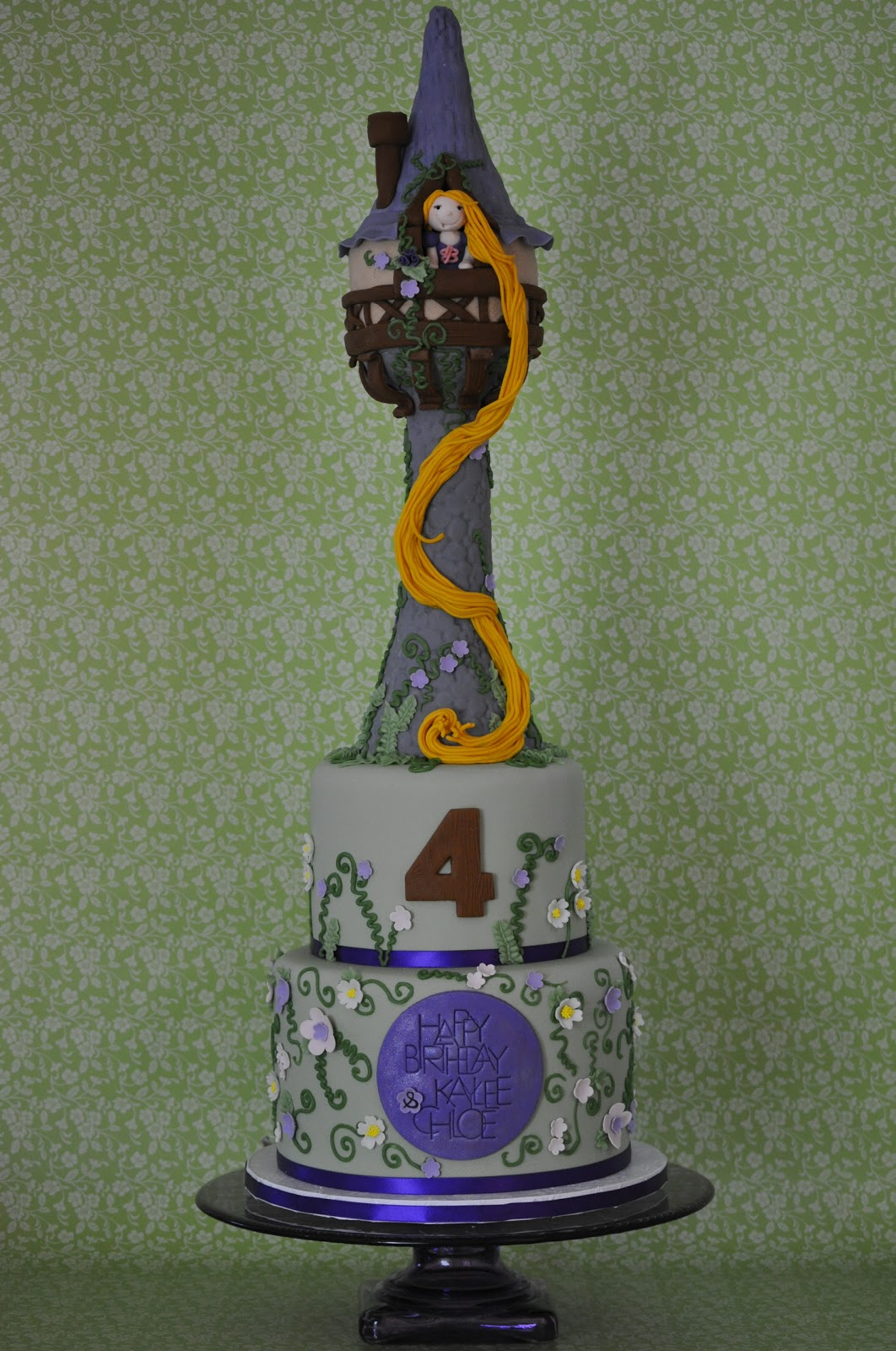 Rapunzel's tower cake