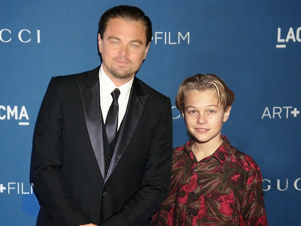 Leonardo DiCaprio in 2013 (left) and 1989