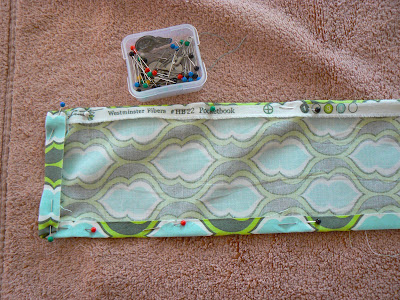 upcycled train case with fabric