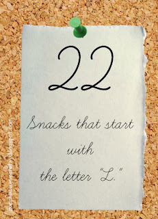 food starts with L, food begin with L, preschool letter of the week snacks,