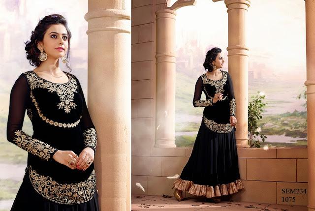 Party Wear Rakul Preet Singh Long Anarkali suit