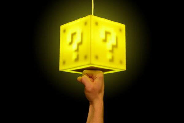 Super mario interactive lamp