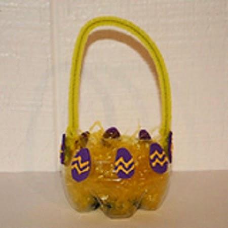 Canastas de Pascua con Botellas Recicladas